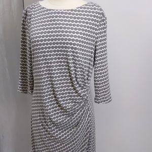 Coldwater Creek gray/white knit dress-sz 16